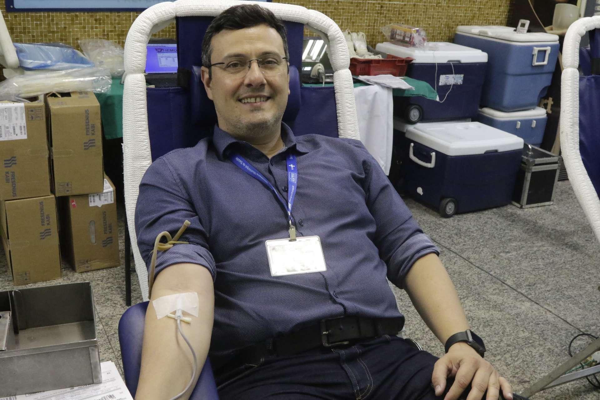 Doação de sangue no Miguel Couto