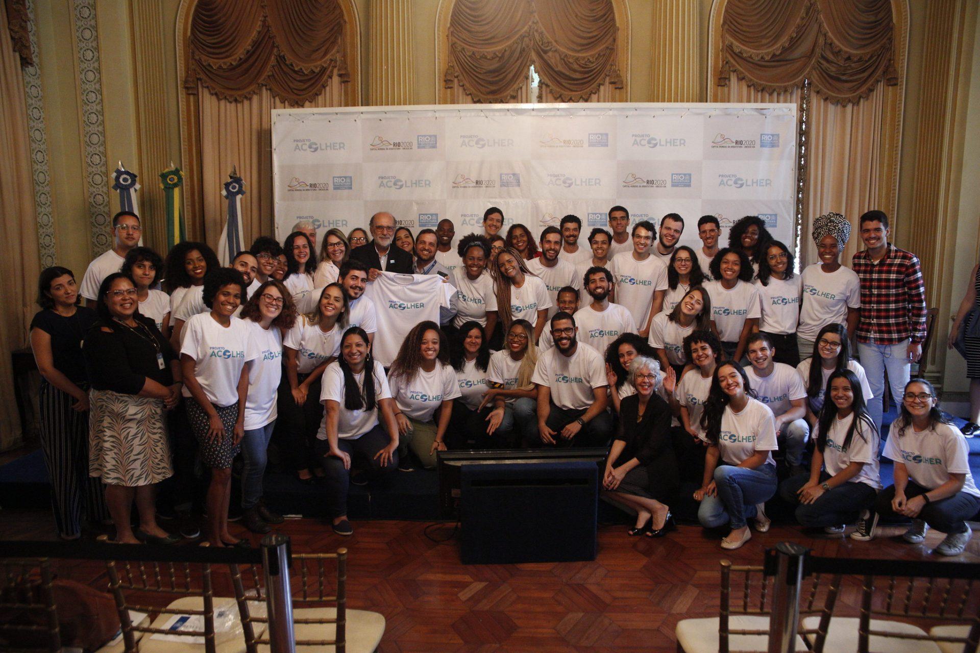 Universitários ingressaram no Projeto Acolher, da Secretaria Municipal de Saúde. Fotos: Rhavinne Vaz/ Prefeitura do Rio