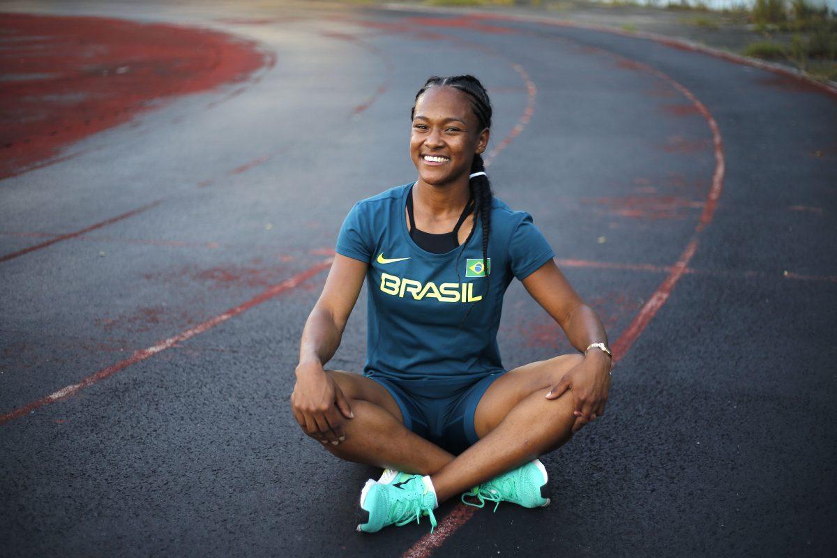 A velocista Lorraine Martin