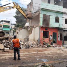 Até o momento, sete edificações foram condenadas por risco de desabamento. Foto: Divulgação