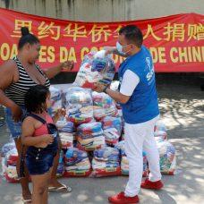 Comunidade chinesa que vive no Rio doará 2 mil cestas básicas. Foto: Cadu Silva/Prefeitura do Rio
